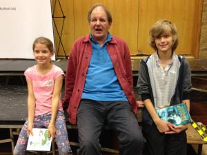 Michael met all the children afterwards