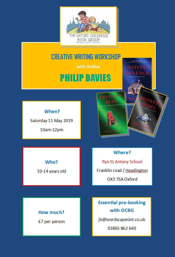 Philip Davies creative writing workshop poster